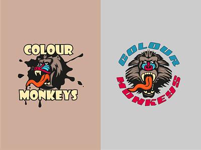 Mandrill Illustration logo design graphic design drawing concept color cartoon creative branding art logo vector adobe illustrator illustration design