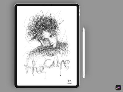 The Cure Illustration mobile typography painting ipad digital art digital drawing procreate cure app creative art design illustration