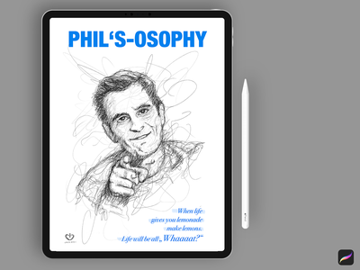 Phil Dunphy Illustration family modern print mobile ipad procreate app typography photoshop creative art illustration design