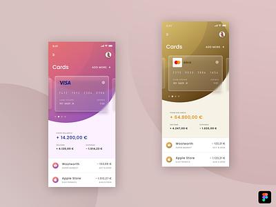 Finance App UI glassmorphism finance figma typography mobile app ui creative illustration design