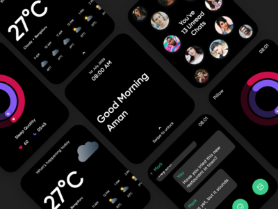 Apple Watch Morning Screens app smartwatch minimal abstract ui ux uiux morning routine apple apple watch dribbble design