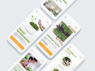 Mobile Version for Smart Microgarden