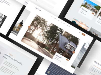 Concept of a real estate agency website mockup design ux ui scandinavian style nordic real estate agency webdesign website real estate concept