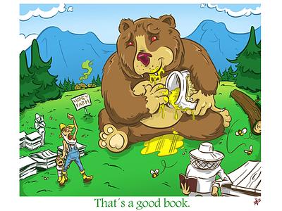 Good book bear illustration