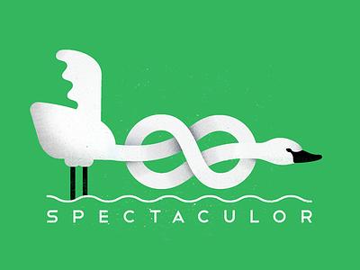 The Swan vector swan logo flat