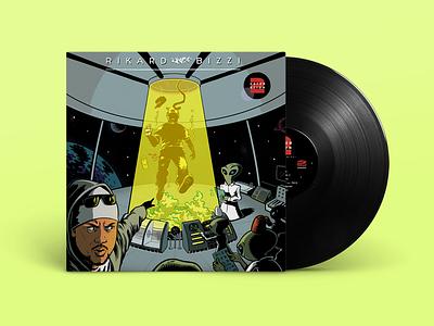 LP cover aliens comic vinyl cover lp