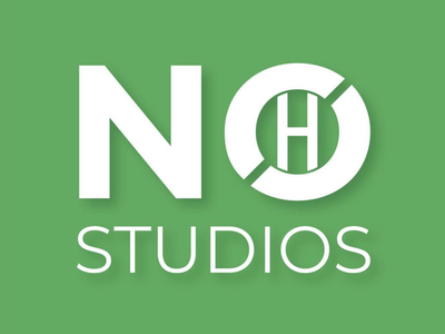 No H Studios Logo paper crafts vector branding logo design logo mark logo design