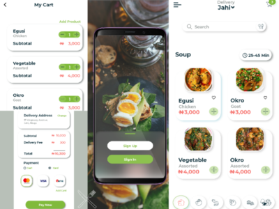 Mobile Food delivery app