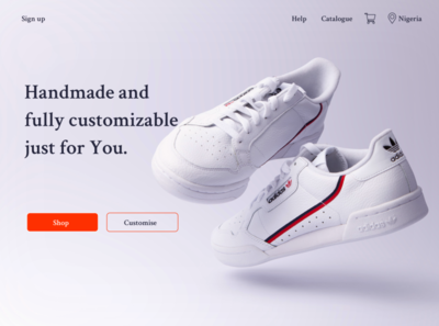 Daily UI -Landing Page - #003 ui design website web design figmadesign figma sneakers landing page