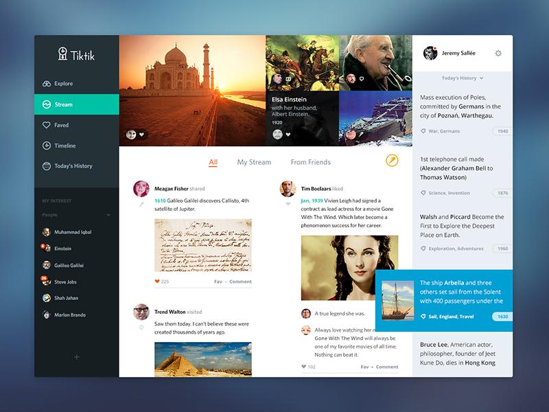 tiktik landing pakistan ux ui web app icons social history time travel