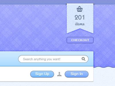 Elava shampoo ui web shopping cart buttons ribbons