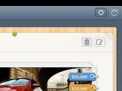 Getbelongings ipad app ipad ux ui papers board app tags buttons ios