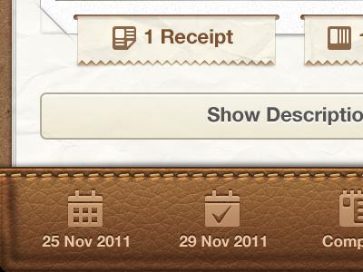 Getbelongings iphone app ui ux buttons ios app iphone tags invoice reciept