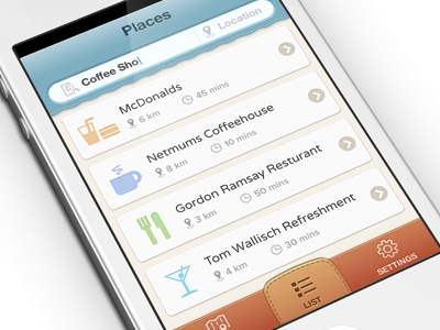 linetime ux ui buttons iphone app ios textured orange yellow