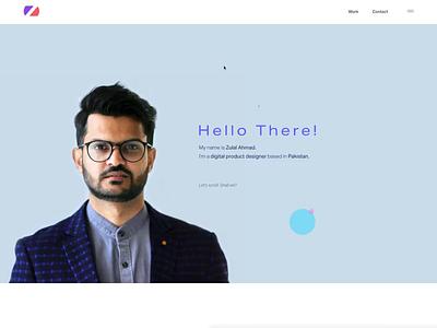 Personal Portfolio typography product design portfolio case studies