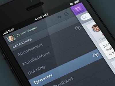 SB ux ui ios app iphone feedback purple green brown textures clean simple