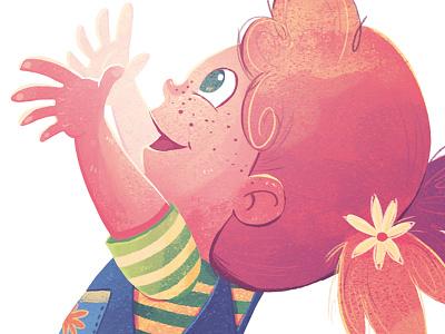 The Bubble Who Would Not POP! Girl hug cute childrens book girl kidlitart illustration