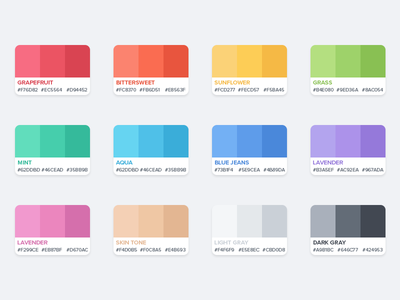 Flat Color Palette By Azis Hertanto Dribbble