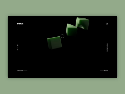 Foam square texture c4d web 3d interaction animation website foam
