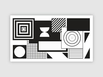 Shapes Pattern movement circle square geometric illustration pattern animation