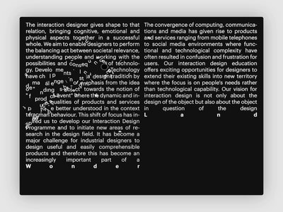 Type Wall. black clean typo simple modern type motion website layout interaction animation
