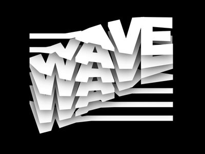 Waves 🌊 typeface branding typedesign motion design 2d 3d type animation interaction typography