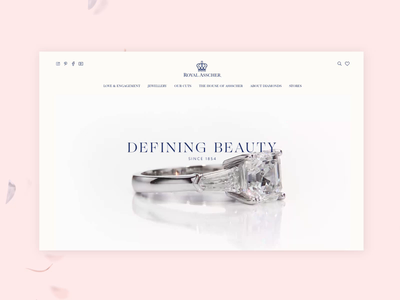 Lovers & Diamonds 💎 editorial website diamond 3d ecommerce web design interaction layout animation