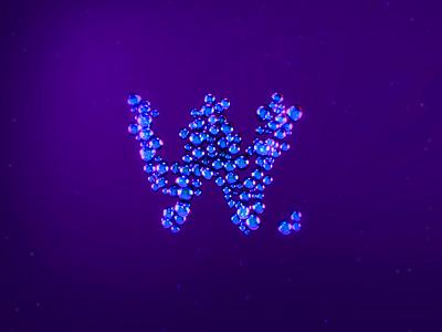 Bubbles ⚪️🔵 luxury bubble typeface motion type branding animation 3d 2d