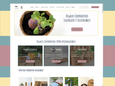 Web design project: Ohseeds (Spanish)
