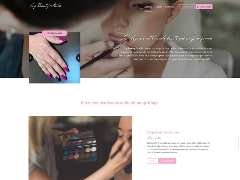 [WIP] - New website for professional skin care & Makeup lgbeauty makeup hugomrvt webdesign uidesign skincare