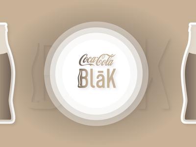 Coca Cola Blak — New logo concept for old product ☕️ concept blak coffee coke logo rebranding coca cola