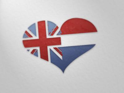Anglo Dutch Love heart dutch english love