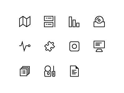 JIRA navigation icons line icons icons
