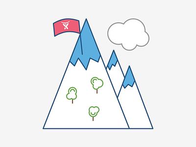Atlassian Mountain mountain flag snow trees