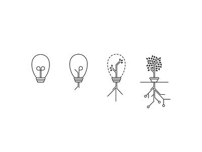 Atlassian Growth team shirt design idea growth tree lightbulb data