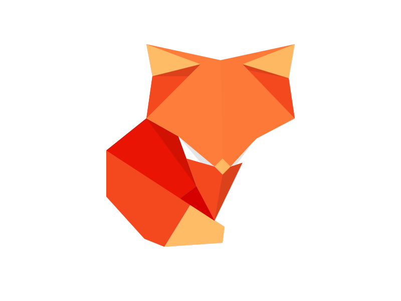Origami Fox By Benjamin Humphrey