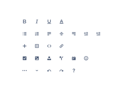 Simple editor icons