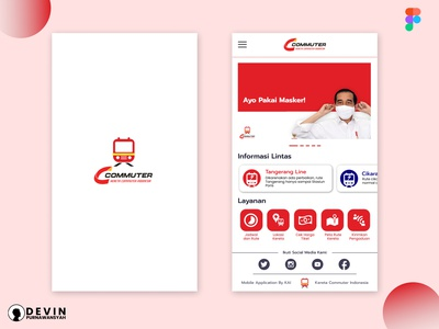 Redesign KRL Access Jakarta app icon illustration design ux ui