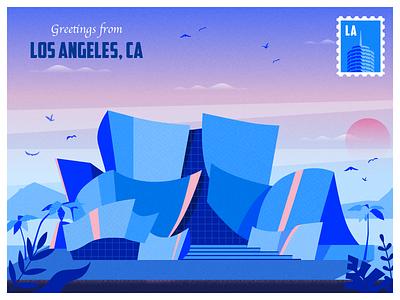 Greetings from LA illustration losangeles