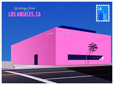 Greetings from LA illustration la losangeles