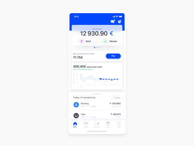 Onboarding animation for fintech project Neo Bank uxui app design animation product design product startup finance ui fintech banking