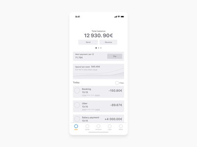 Onboarding animation for fintech project Neo Bank app design app animation product design product startup finance ui fintech banking