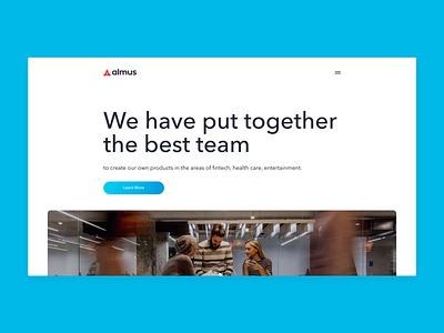 IT company site on Vue.js startup webdev website websitedevelopment vue