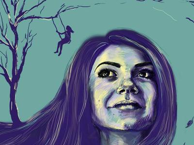 Digital Art Portrait Painting