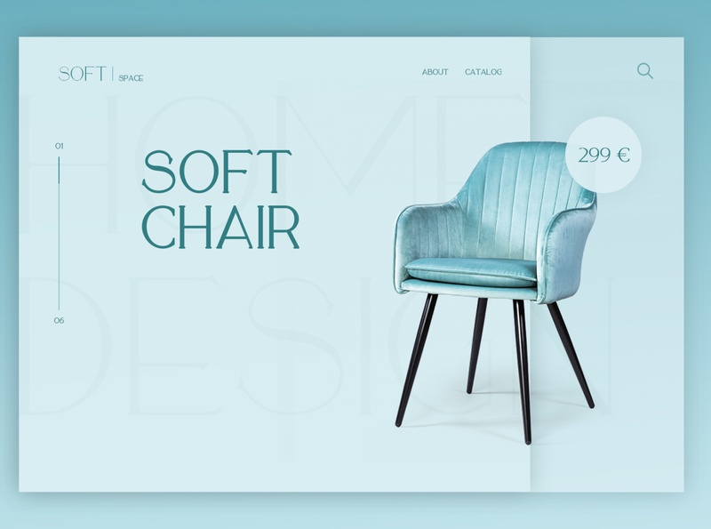 Soft chair banner дизайн кресло branding мебель software banner
