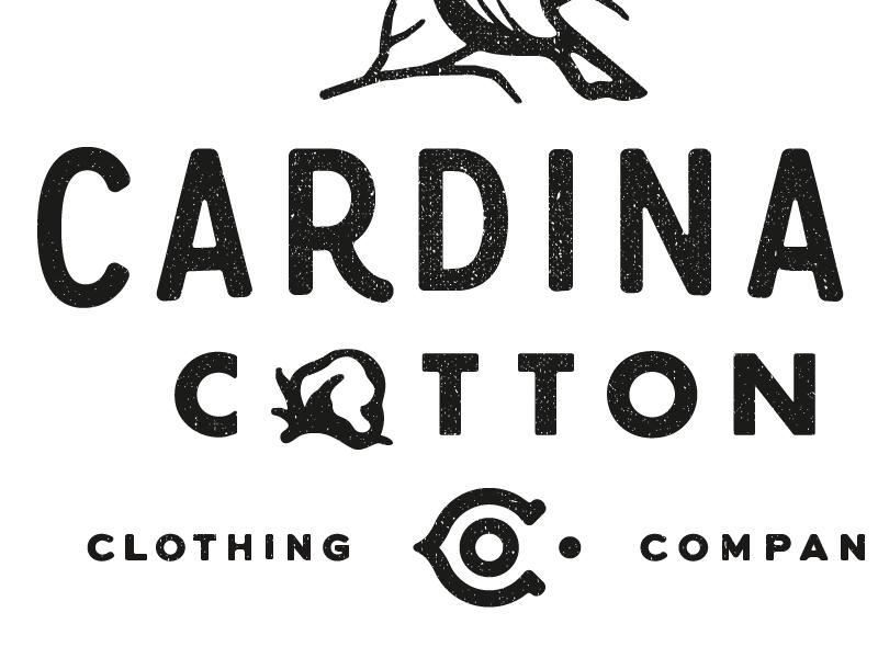 Cardinal Cotton Logo Set company clothing co north carolina matthew cook cotton cardinal texture logo typography