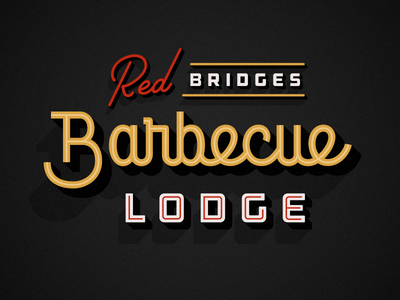 BBQ in-line matthew cook retro vintage bbq palm canyon drive outage lettering texture typography