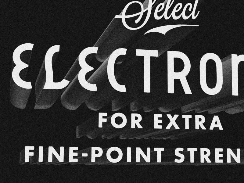 Select Electronic lost type script cook matthew lettering vintage retro noir texture typography