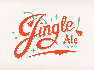 Jingle Ale christmas cook matthew bells jingle beer holiday typography
