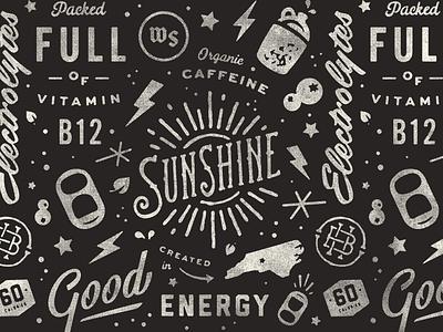 Sunshine Pattern pattern halftone texture signage script matthew cook sunshine badge retro vintage typography